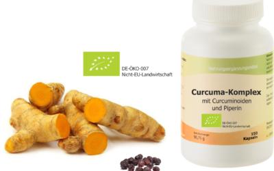 Curcuma-Komplex Bio – jetzt wieder erhältlich!